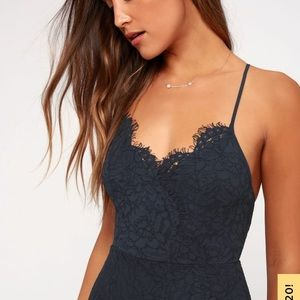 Flirting with desire blue lace body-con dress